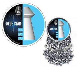 BSA Blue Star Pellets for Air Rifles | Heavy Wad Cutting + Dome Head 8,02 gr | 0.177 – 4.5mm