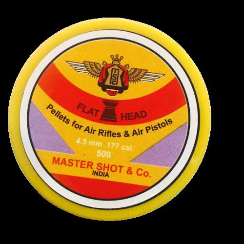 Master Shot Flat Head 0.177 Cal/4.5mm