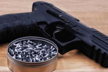 Air gun pistol metal body