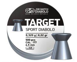 JSB Diabolo Target Sport .177 Cal, 0.520g, 8.02gr, 4.50mm, Wadcutter, 500ct