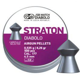 JSB Straton Diabolo 0.177 Cal (4.5mm) | 8.26 Grains, 500pcs Pellets