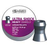 JSB Ultra Shock Heavy Diabolo Airgun Pellets .177cal/4.5mm –