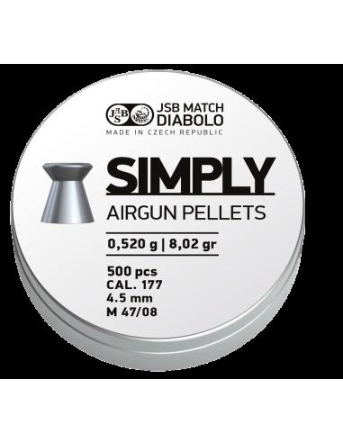 JSB MATCH DIABOLO SIMPLY FLAT HEAD AIRGUN PELLETS .177CAL | 8.26 GRAIN | 500 PCS